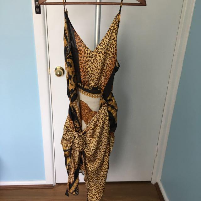 Size 10 Chair Silk Dress