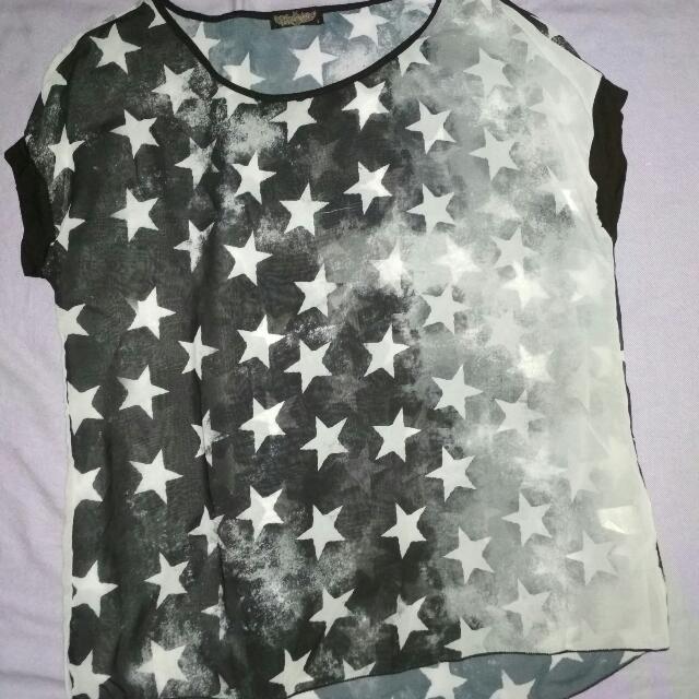 Starry Chiffon Top