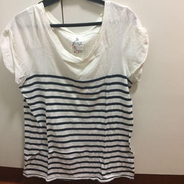 Black & White Stripes Blouse