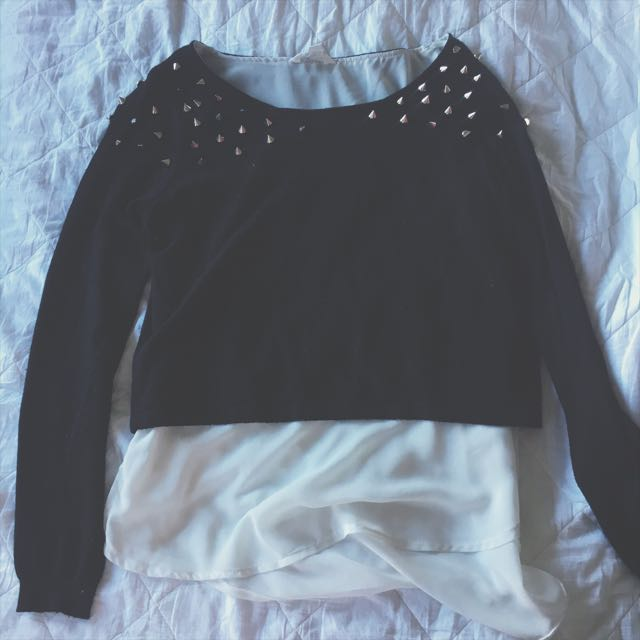 Studded Sweater/jumper Top