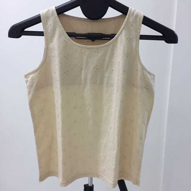 Preloved Perforated Details Tank Top
