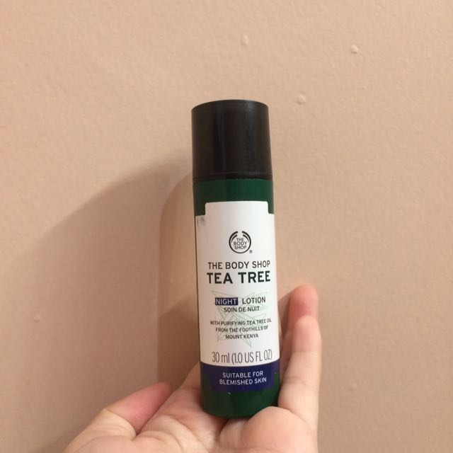 The Body Shop Tea Tree Night Lotiob