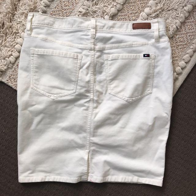 Tommy Hilfiger Cord White Skirt