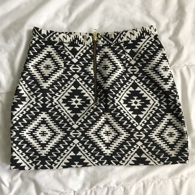 TOPSHOP geometric Skirt