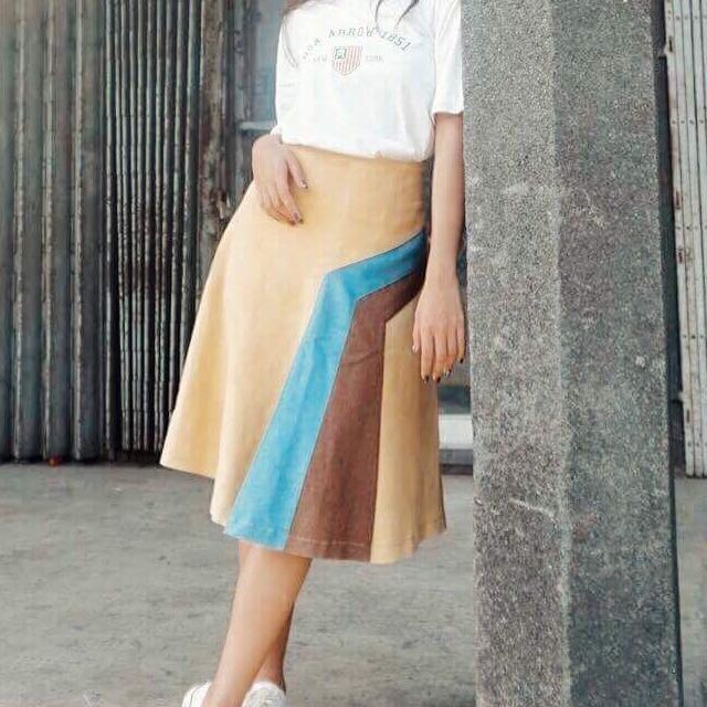Tri Colored Skirt