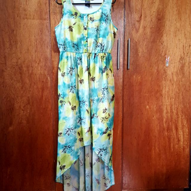 Tropical Hi-low Dress
