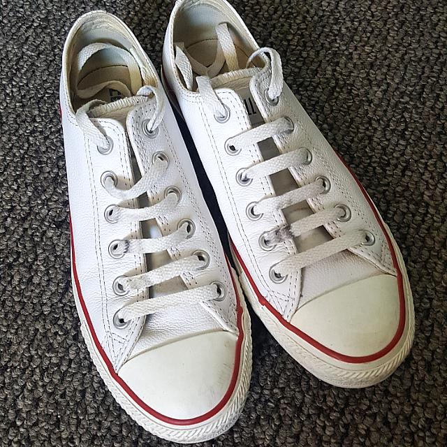 UK 6 Authentic Leather Converse Shoes