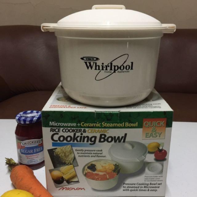 Whirlpool Microwave Steamer Cooking Bowl Set