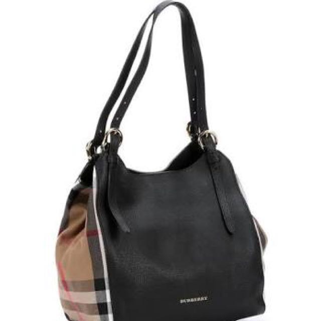Wtb Burberry Canter Small Black Leather