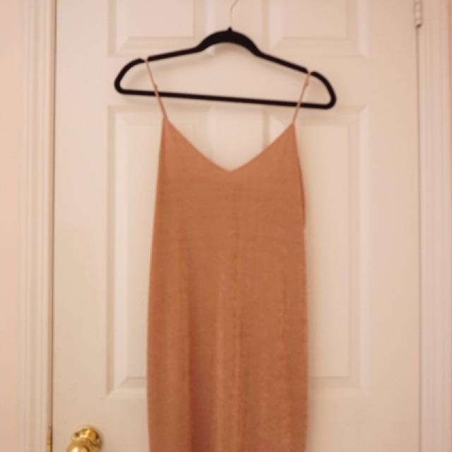 ZARA PINK SHORT 'SLIP' DRESS