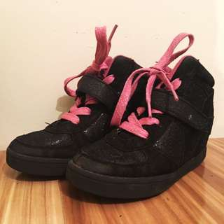 Girls Glitter High Tops Good Condition