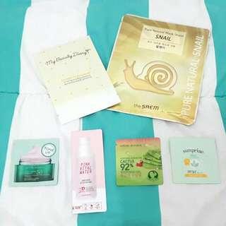 Sheet Masks And Skincare Samples Set