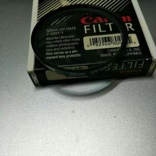 Original Canon Camera Lens 52mm UV Haze