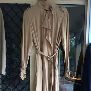 country road silk trench style dress