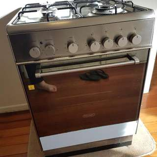 DeLonghi Gas Hob Electric Oven 60cm Stainless Steel