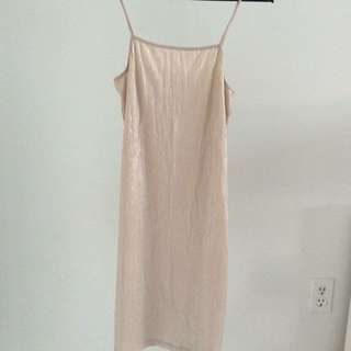 Zara Shiny Gold Mini Dress