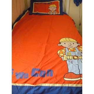 Bob The Builder Single Quilt / Doona Cover Set *GUC*