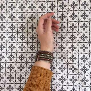 Boho Style Beaded Chunky Bracelet