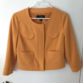 Yellow Cropped Light Jacket Forever21