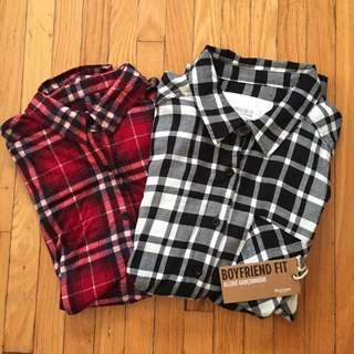 Bluenotes Boyfriend Fit Plaid