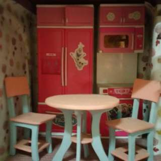 Kitchen cabinet and dining table for doll house