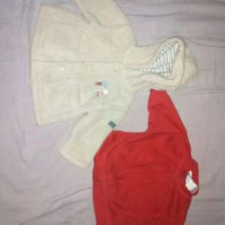 Newborn girls clothes and blankets