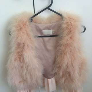 Dusty Pink Furry Extra Mini Jacket