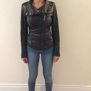 Black Real Leather Danier Jacket