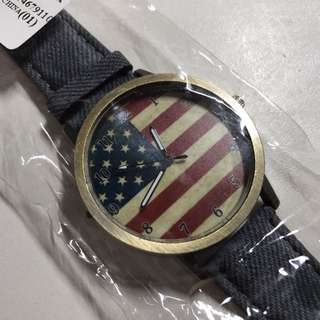 Rustic American Flag Watch