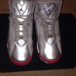Silver And Pink Air Jordan
