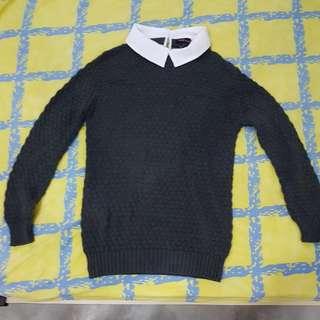 Women Collared Sweater
