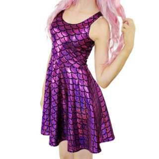 SALE Purple Mermaid Dress