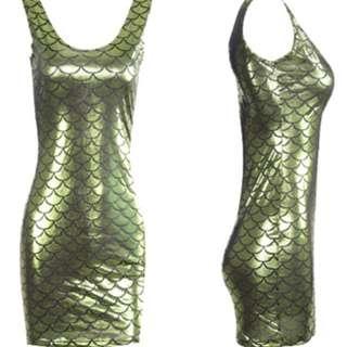 SALE Green Mermaid Dress