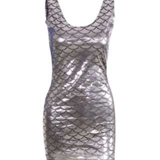 SALE Silver Mermaid Dress