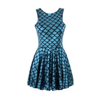 SALE Blue Mermaid Dress