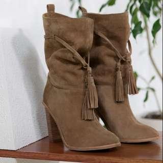 Trenery 'Stephanie' Suede Block Heel Boots