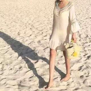 挖背海攤裙