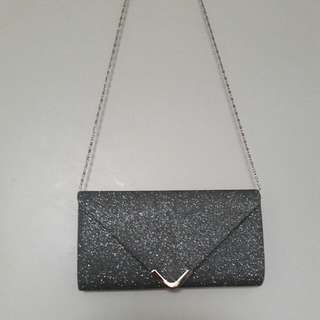 Silver Sparkly Clutch/purse