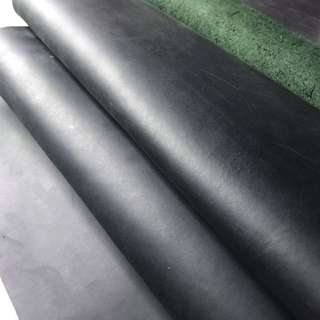 Dark Green Pull Up Leather Cow Hide For DIY Leather Craft Jamjarleather