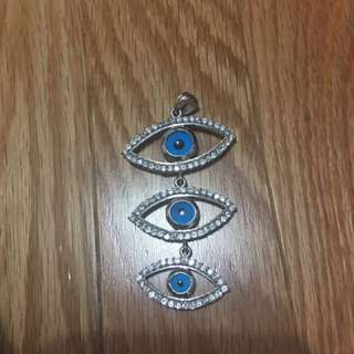 Gorgeous Protective Eye sterling silver 925 pendant $45