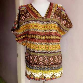 Batik Batwing Lengan Pendek