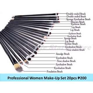 Professional Make up Brush Set of 20pcs