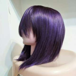 全新葡萄紫中短假髮