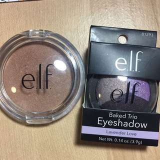 ELF Bronzer And Eyeshadow