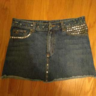 MARC By Marc Jacobs Embellished Jean Skirt