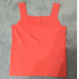 pinkish fluorescent orange ish singlet? top? (worn once at home )