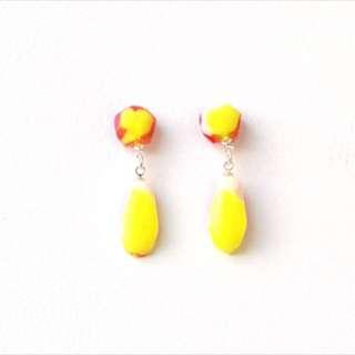 Resin Baby Glam Drop Earrings