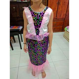 100% Handmade mermaid-like dress for children