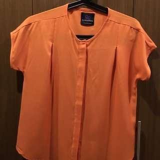 Orange Top From Plains And Prints