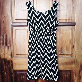 REPRICED! Black Patterned Dress